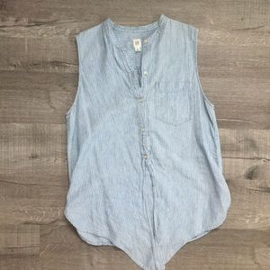 GAP Sleeveless Tie Front Blouse size MTall